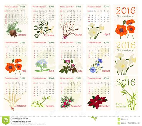 printable calendar 2016 flowers romantic floral calendar for 2016 with realistic beautiful