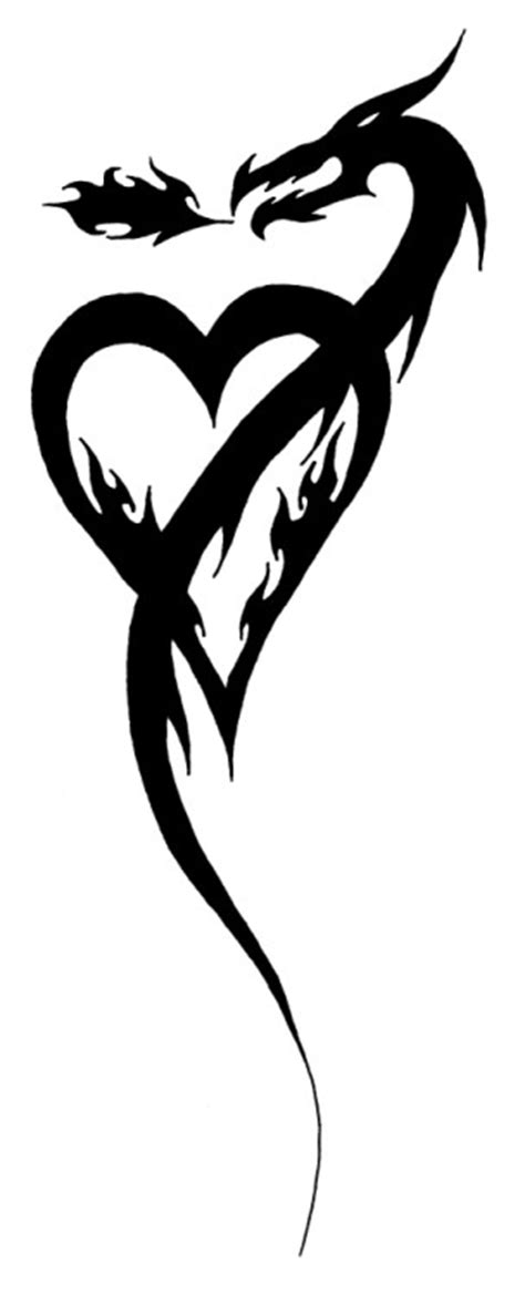 tribal heart dragon by kavarria on deviantart