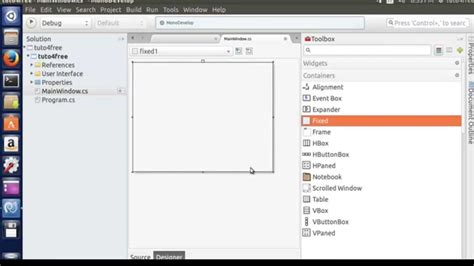 tutorial mono linux simple user interface with monodevelop on ubuntu youtube