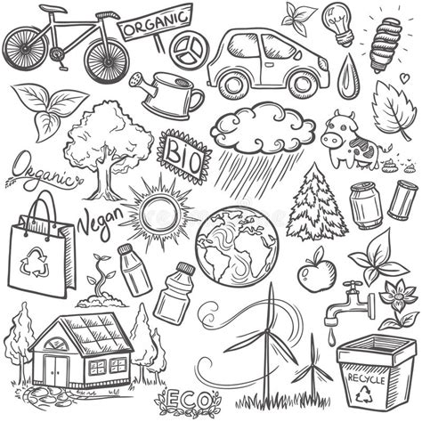doodle trucchi doodles eco icon set stock photos image 37536743