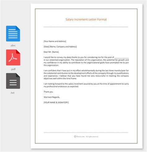thank you letter to after salary increase salary increment letter 14 best printable sles and