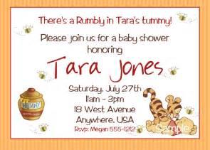 winnie the pooh baby shower invitations by createphotocards4u