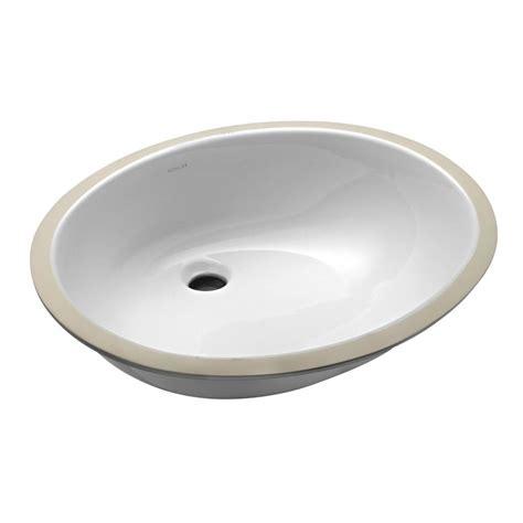 bathroom in white kohler caxton vitreous china undermount bathroom sink with glazed underside in white