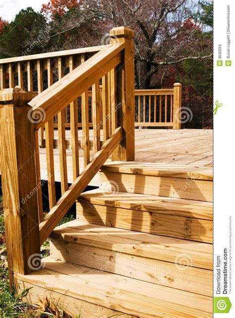 Wood deck in fall stock photo. Image of autumn, angle