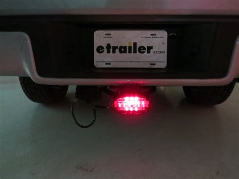 trailer hitch cover with 12 led brake light oval led brake light trailer hitch receiver cover pilot