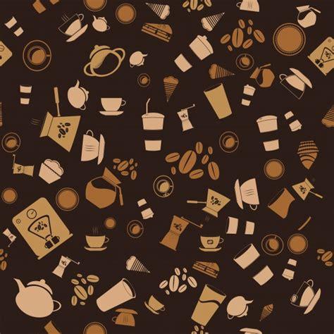 pattern vector no background vector coffee seamless background pattern icon vector