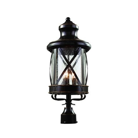 Carriage House Lighting Fixtures Newport Coastal Altina Exterior Bronze Led Solar Post Top Lantern 7786 10bz The Home Depot