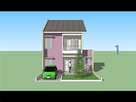 house design sketchup youtube sketchup house minimalis 2 floor design part 1 youtube