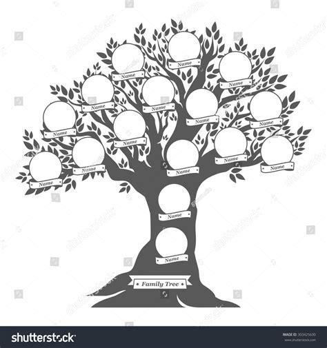 Hand Drawn Oak Tree Family Tree Vintage Stock Vector 303425630 Shutterstock Vintage Genealogical Family Tree Sketch Vector Illustration Stock Vector