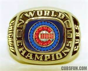 cubs world series ring