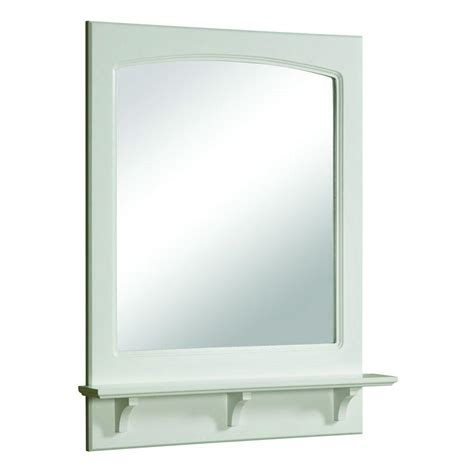 white bathroom mirror with shelf design house concord 31 in h x 24 in w framed wall