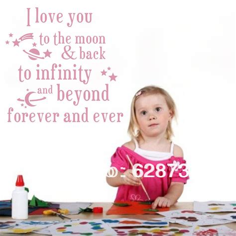 I Love You To The Moon And Back Kids Bed Room Wall Quotes I You To The Moon And Back Nursery Decor