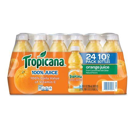 Shelf Of Orange Juice by Tropicana 100 Bottled Orange Juice 24 Ct 10 Oz
