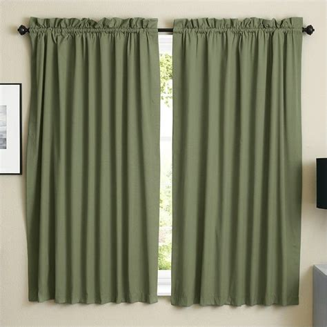twill curtains blazing needles twill curtain panels in sage set of 2