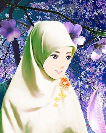 anime perempuan gambar kartun muslim muslimah pria wanita pasangan car