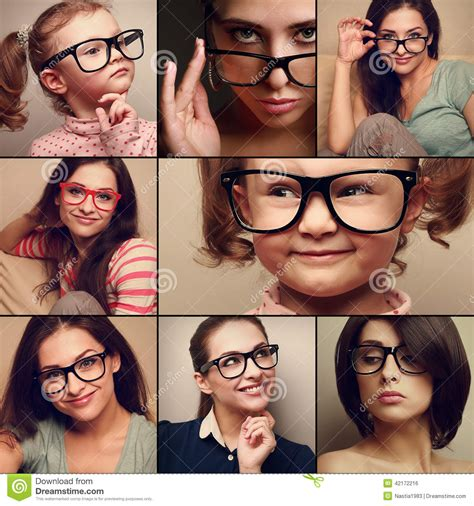 happy smiling portrait collage collection from in