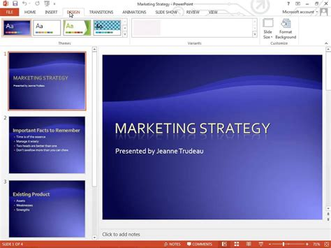 where is page setup in powerpoint 2013