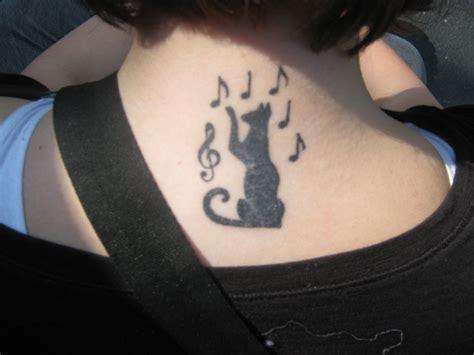 tattoo cat music cat tattoo by rain gloomfire on deviantart