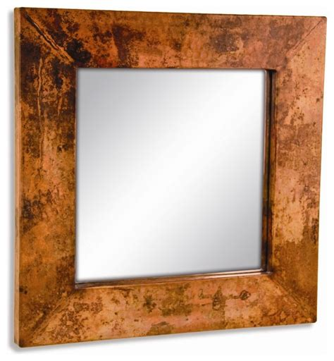 Copper Bathroom Mirrors Small Square Copper Mirror Wall Mirrors By Timeless Wrought Iron