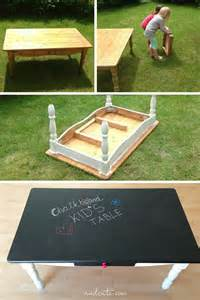 Coffee Bean Storage Containers - turn an old coffee table into a chalkboard for the kids trusper