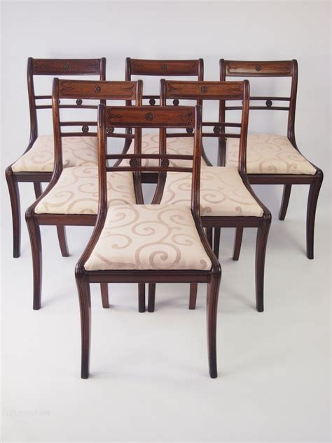 Mahogany Dining Chair Set 6 Regency Mahogany Dining Chairs Antiques Atlas