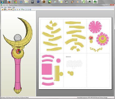 Sailor Moon Papercraft - sailor moon moon stick papercraft by aiko chan14 on