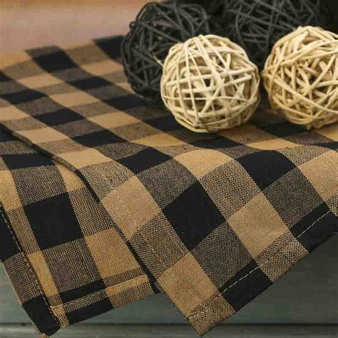 natural and black gingham plaid dish towel kitchen natural and black gingham check dish towel kitchen
