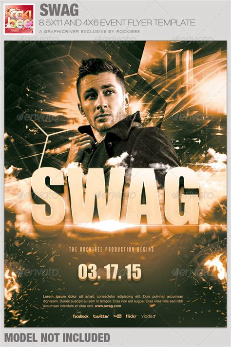 Swag Event Flyer Template Events Flyers Graphicriver Event Flyer Template