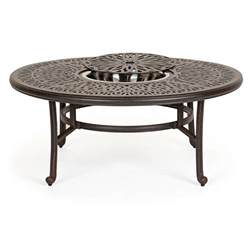 Outdoor Patio Coffee Table Florence Cast Aluminum Outdoor Coffee Table 52 Inch Ca 777ab 52 Cozydays