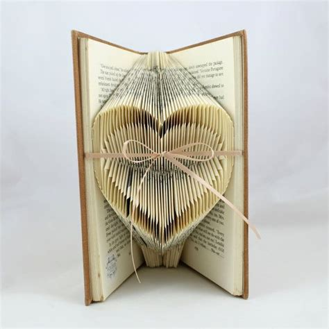 book craft for folded small upcycled book sculpture