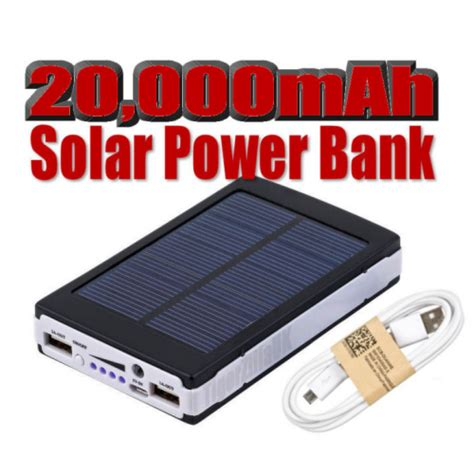 Power Bank Solar 60000mah 20000mah solar power bank usb portable battery charger