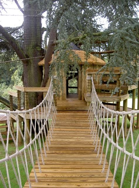 backyard rope bridge rope bridge traditional kids london by treehouse