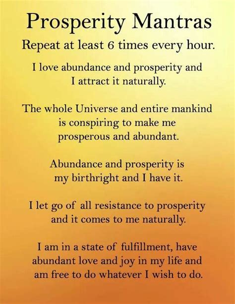 25 best ideas about prosperity affirmations on