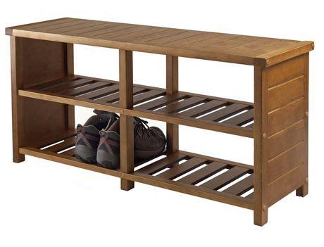 winsome keystone shoe bench 33348 keystone shoe bench walmart canada