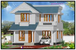 1491 sqft modern double floor kerala home design indian