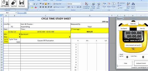 Download Tools For Lean Manufacturing Toyota Production System Excel Stopwatch Template