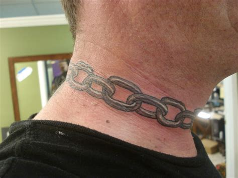 chainmail tattoo 9 wonderful chain neck tattoos