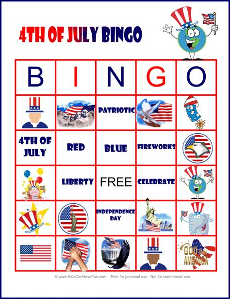 Printable 4th Of July Games | 4th of july party ideas decorations fun games