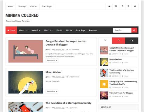 blogger templates for ebooks simple flat responsive design fast loading minima