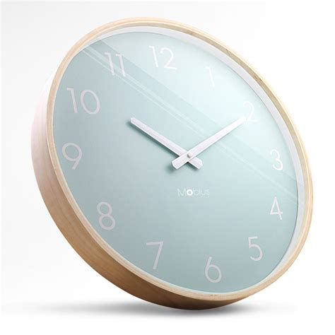 scandinavian wall clock tuba mute original quality manufactured wood wall clock