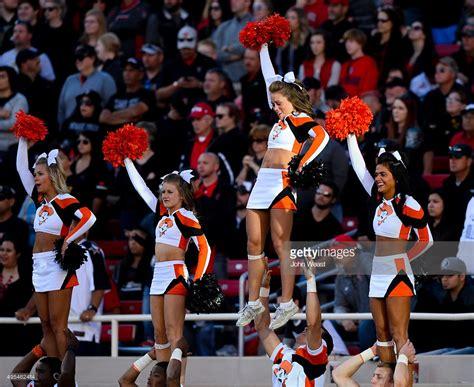 oklahoma state university cheerleaders 2015 oklahoma state v texas tech getty images