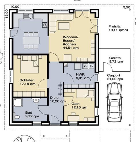 grundriss wohnung 80 m2 hausidee vom typ bungalow nr 10219 parc bauplanung gmbh