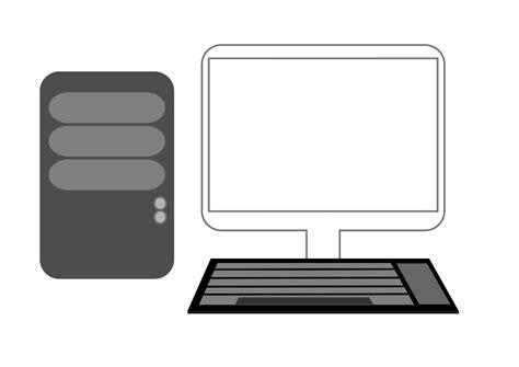 clipart pc desktop computer icon images