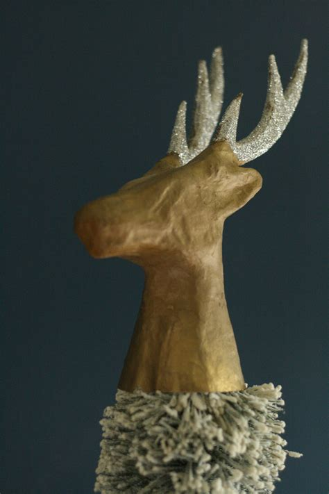 diy deer head tree topper