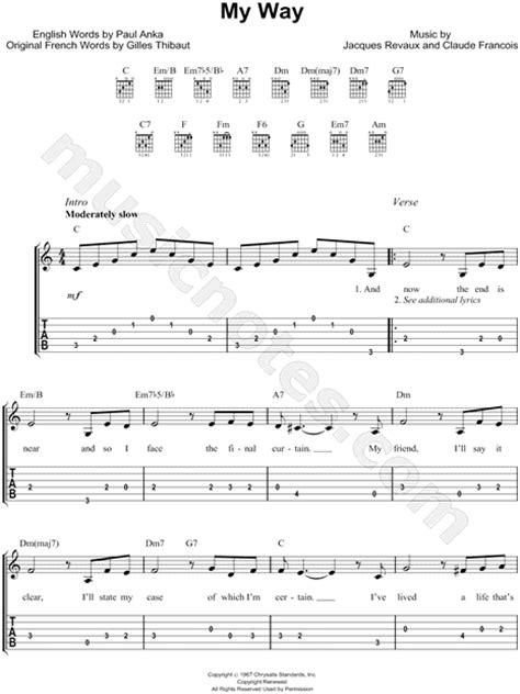 Frank Sinatra Guitar Chords Images - guitar chords finger placement