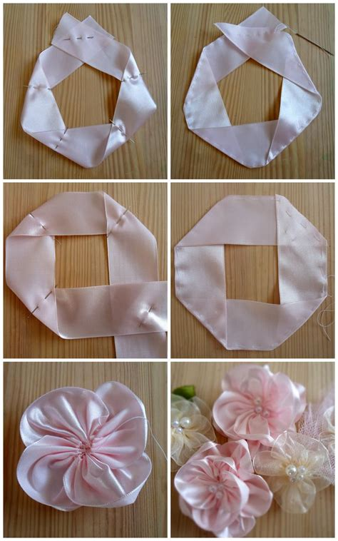 How To Make Handmade Flowers From Ribbon - 25 best ideas about ribbon flower tutorial on