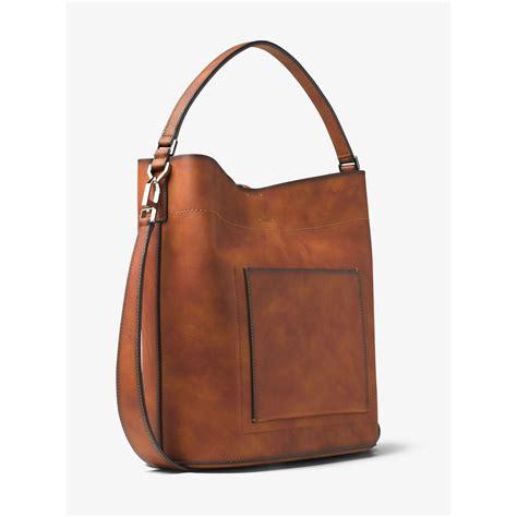 bag large lyst michael kors miranda large burnished leather
