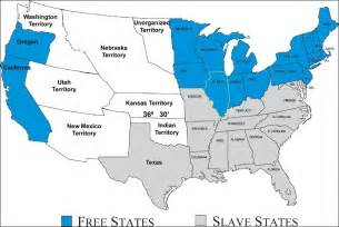 Map Of Slave States by Slavery And Sectionalism Crossroads Of War