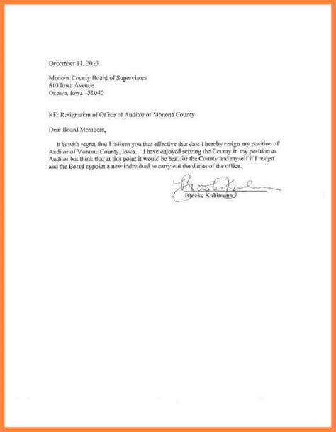 Resignation Letter Sle Effective Immediately Template 5 Effective Immediately Resignation Letter Exles Bussines 2017