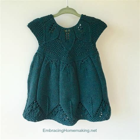 knitted dress patterns for toddlers knitted baby dress pattern